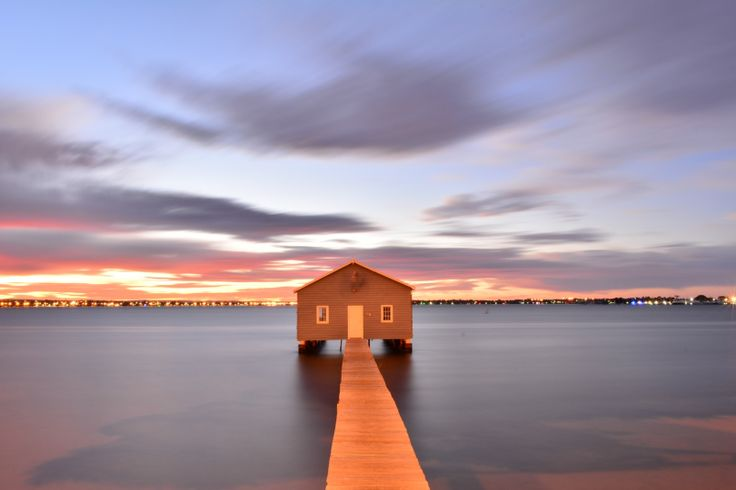 Crawley boat shed, Perth, Western Australia. About 5am