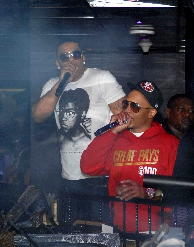 Neon Nights: Vegas club pics - Entertainment / Neon - ReviewJournal.com Nelly had his Halloween/birthday party at the Bank nightclub, where he was joined by rapper T.I. Photo courtesy, Light Group.