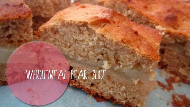 Wholemeal pear slice
