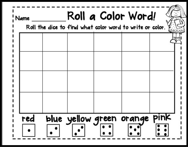 find this pin and more on kindergarten color word activities could - Color Games For Kindergarten