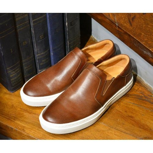 slipon leather brown #brownslipon #leatherslipon