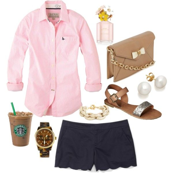 """navy and pink!"" by the-southern-prep on Polyvore"