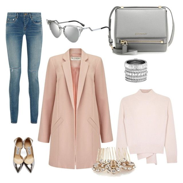 """""""Untitled #5"""" by zuxrav on Polyvore featuring Miss Selfridge, Yves Saint Laurent, Alexander McQueen, Jimmy Choo, Henri Bendel, Givenchy, Fendi, women's clothing, women and female"""