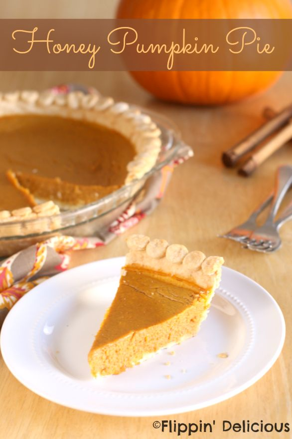 Gluten-Free Honey Pumpkin Pie. All the classic taste with just a hint of honey. #glutenfree #sugarfree