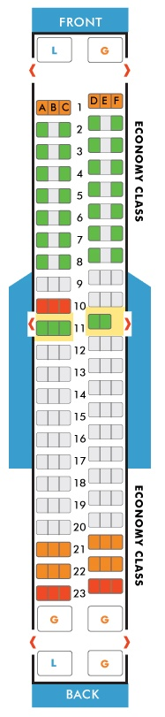 Southwest Airlines Boeing 737 300 Seating Map Aircraft