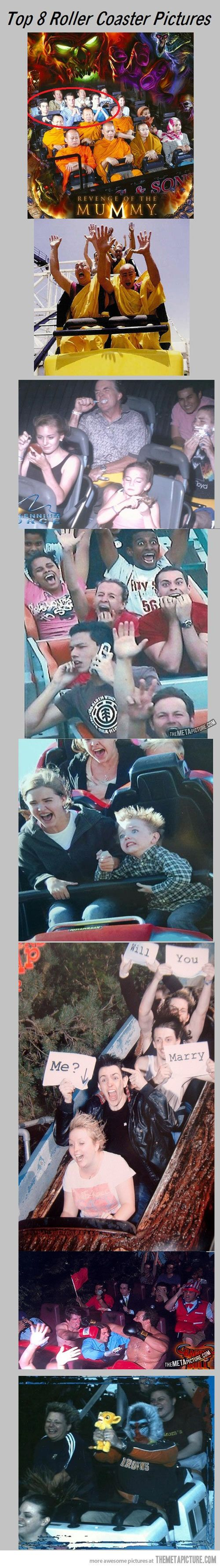 Creative roller coaster pictures… haha these are great!