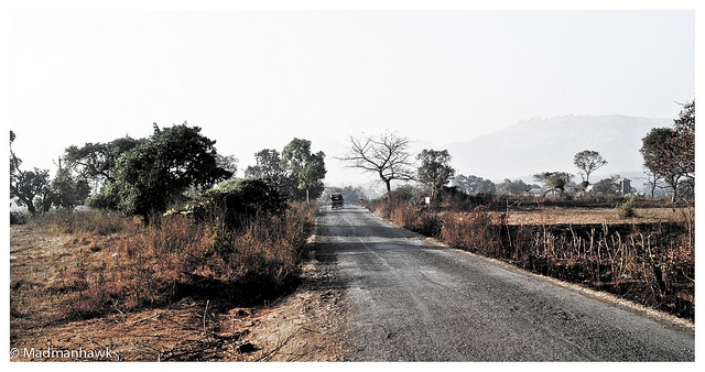 The long road ahead.. an Indian Village
