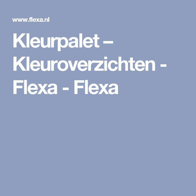 Kleurpalet – Kleuroverzichten - Flexa - Flexa