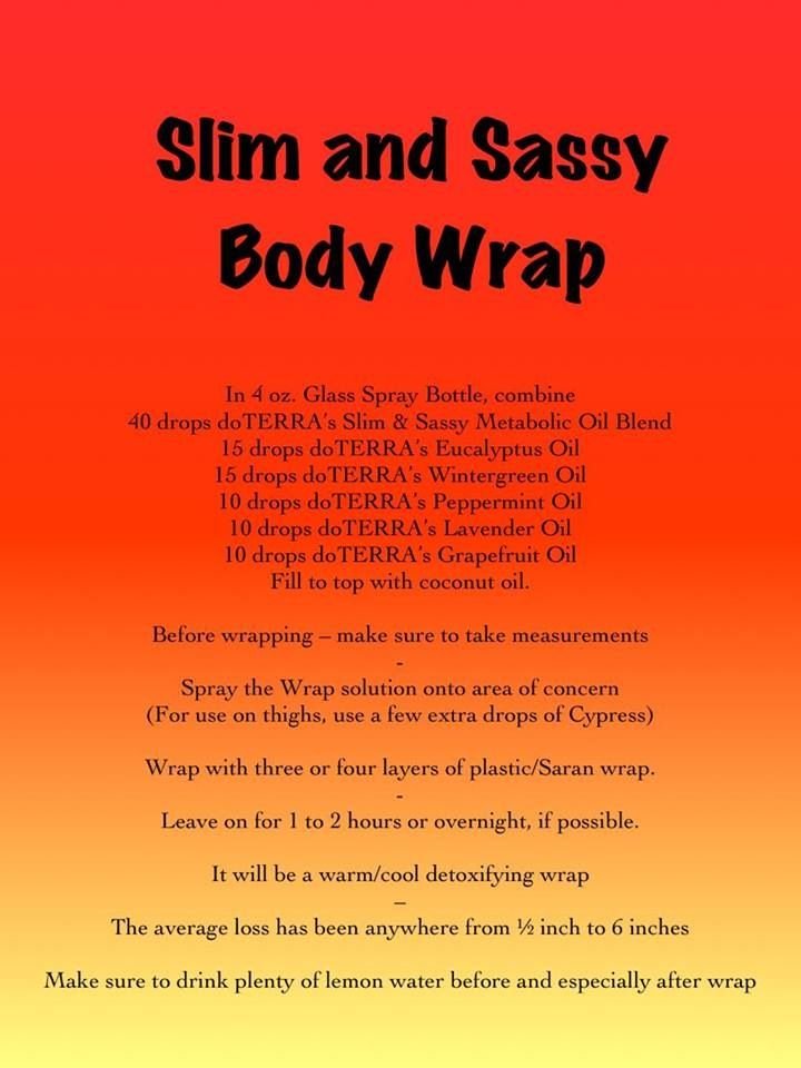 Slim & sassy body wrap!  Wrap class coming in January! We'll do the wraps together and take measurements etc, have smoothies...super fun! Invite your friends! At our home in College station!