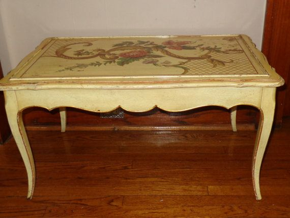 French Country Provencial In Style Hand Painted Coffee Table Vintage Pinterest French