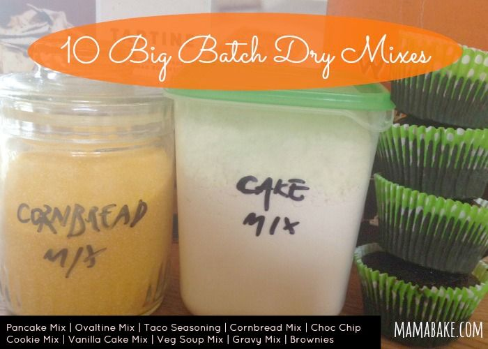 Home made dry mix recipes