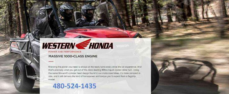 "New 2016 Honda Pioneerâ""¢ 1000 EPS ATVs For Sale in Arizona. New Automatic Honda 3 Seat Side by Side- Pioneer 1000cc with Power Steering- Huge Sale- Visit Western Honda Powersports- Scottsdale, AZ- come see us for THE BESTservice, information and pricing Visit/ call us with $$ deposit and or be ready to buy this awesome machine!   Our Powersports Dealership offers the lowest pricing possible, combined with a low pressure, easy to deal with, friendly staff.   Everything is on sale at…"