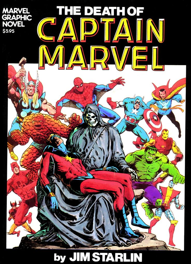 Marvel Graphic Novel Issue #1 - The Death of Captain Marvel - Read Marvel Graphic Novel Issue #1 - The Death of Captain Marvel comic online in high quality