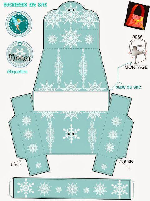 Frozen: Free Printable Snowflakes Purse.