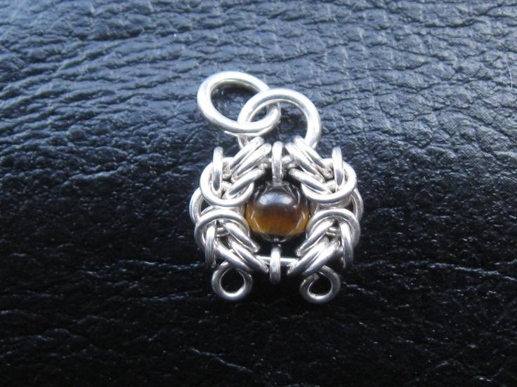925 Silver Romanov Pendant with Tiger Eye 1,8 g