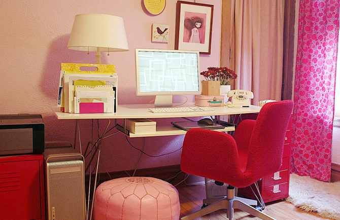 розовый офис