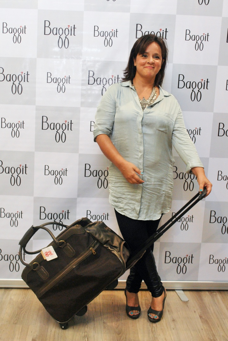 Mrs. Nina Lekhi with the New Travel Collection.