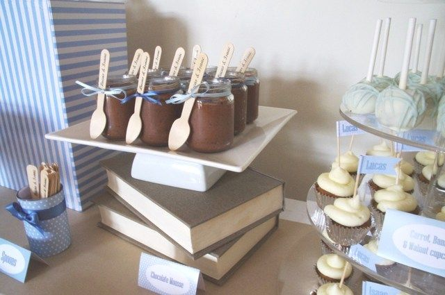 cute - put pretty books under serving dish to make height
