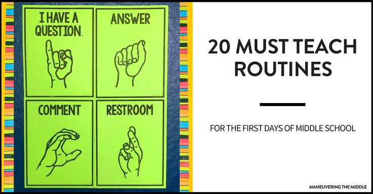 20 middle school routines and procedures to keep your students on the right track and out of trouble.  Set your classroom up for success!
