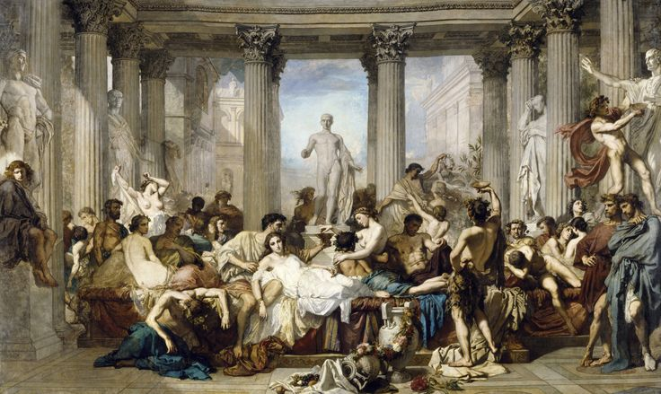 Thomas Couture - Romans during the Decadence (Musée d'Orsay / 1847)