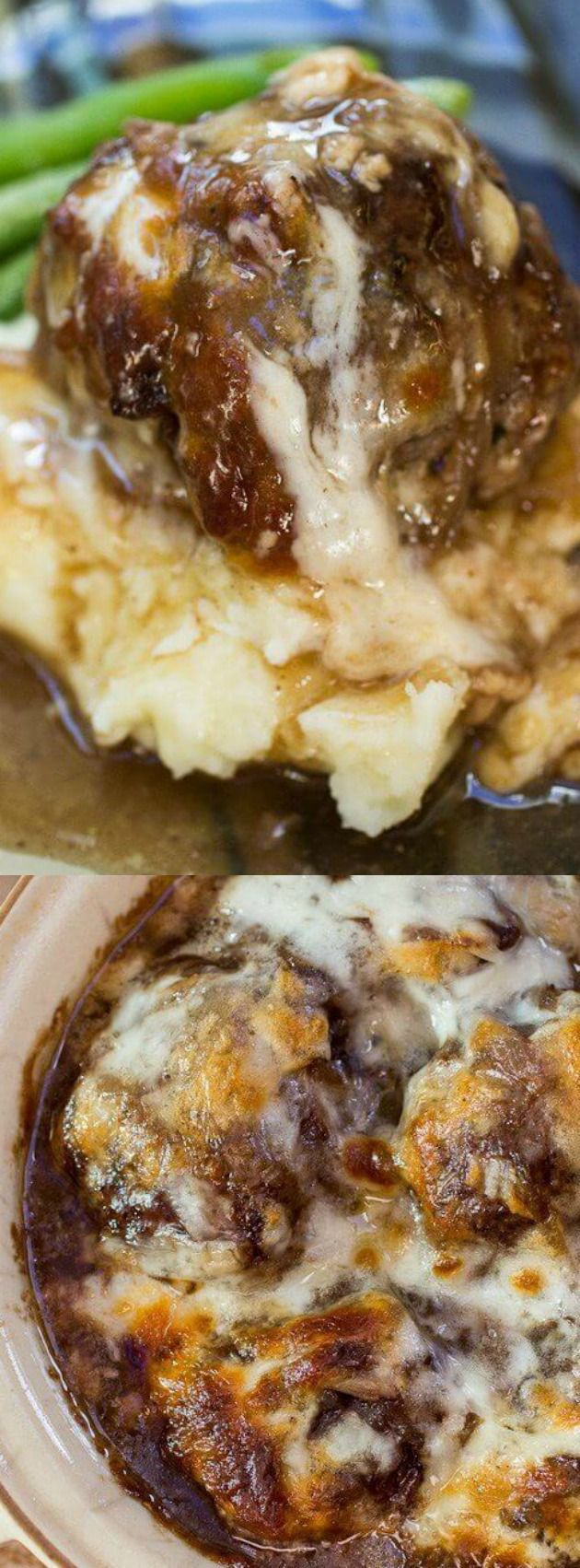 Food and Drink: French Onion Stuffed Meatballs - The Best Blog Rec...
