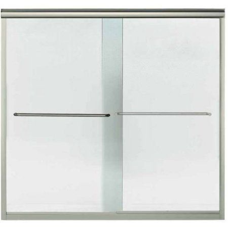 Sterling 5425-59DR-G03 Finesse 54.625 inch-59.625 inchW x 55.5 inchH Frameless Sliding Bathtub Door, Available in Various Colors, Silver