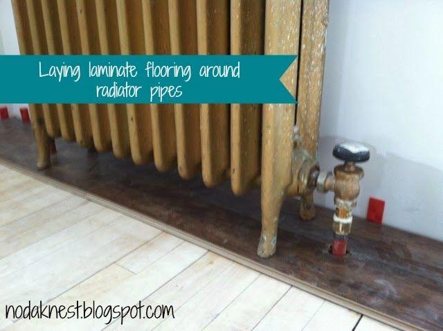 Laying Laminate Flooring Around, How To Install Laminate Flooring Around Radiators