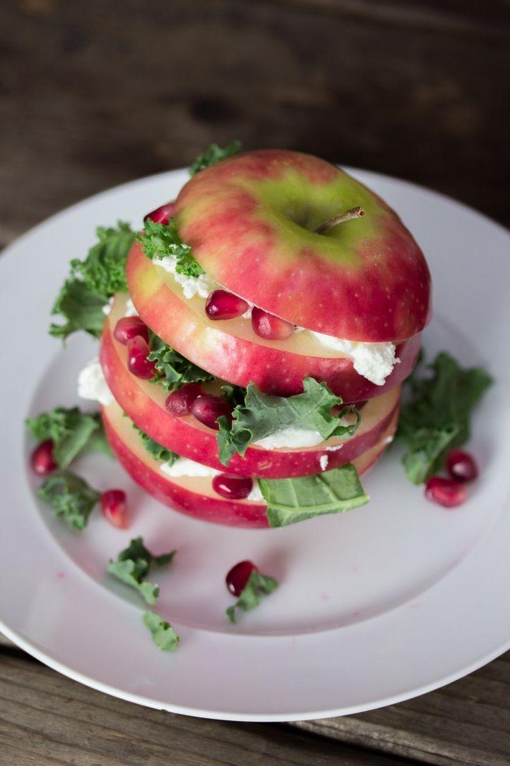 Apple Kale & Pomegranate Salad