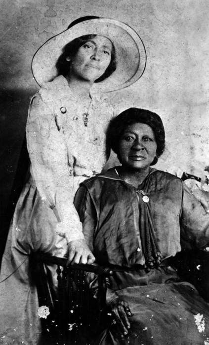 Eartha M.M. White and her mother Clara White, 1910. A former opera singer, Eartha helped create the first school for black children in the Bayard neighborhood of Jacksonville. Eartha lived frugally on a teacher's wages, so she could support philanthropic causes. In 1904, she founded the Clara White Mission to honor her mother, a former slave who ran a soup kitchen in her home. Founded to serve blacks in segregated Jacksonville, the Clara White Mission now serves people of all races.