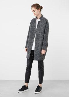 Płaszcz bawełna i wełna