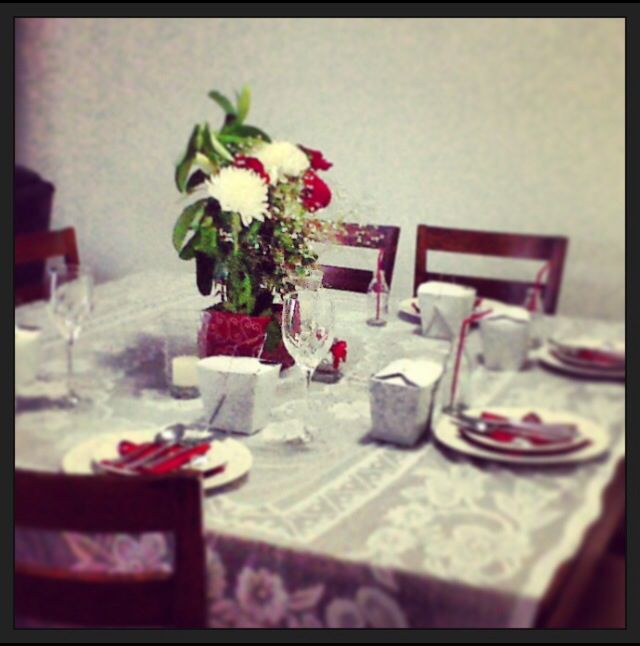 Valentines Day | Romantic Dinner | Table Setting |