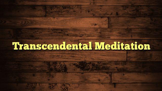 Transcendental Meditation - https://twitter.com/pdoors/status/789061628440346628