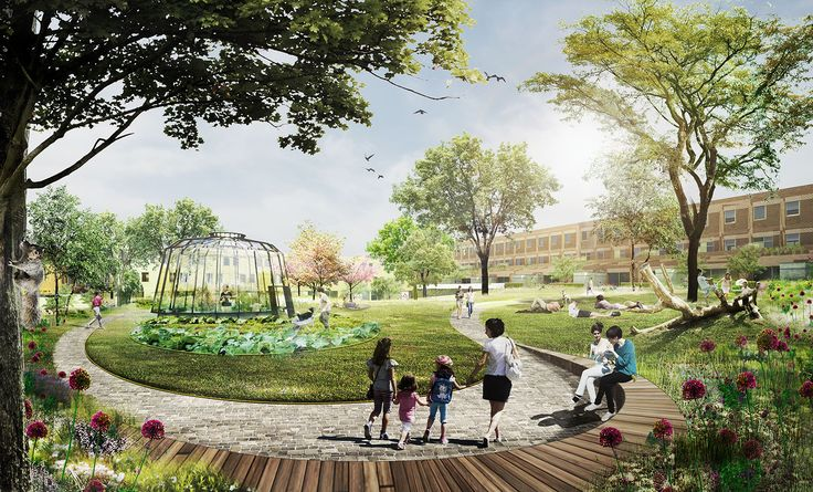 Rotterdam's new Parkstad development puts urban parks on every block
