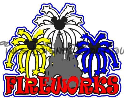 Disney SVG Castle Fireworks Title Scrapbook Disneyland WDW Cut File Cricut Silhouette Print then Cut by TinksDisneyBoutique on Etsy https://www.etsy.com/listing/506074880/disney-svg-castle-fireworks-title