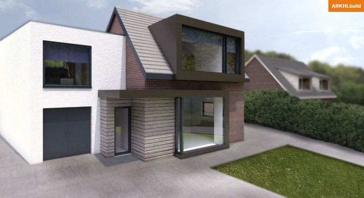 White render dormer and copper cladding frame around for Window design 4 6