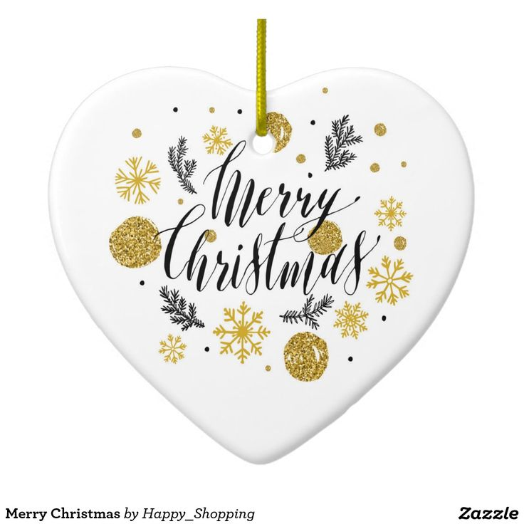 Merry Christmas Ceramic Ornament – Uniquely Designed Gifts