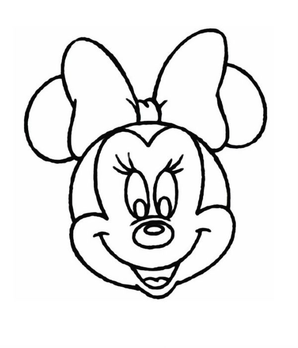 Minnie mouse head coloring page