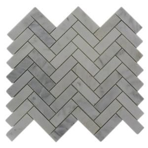 Marble Herringbone Floor and Wall Tile by Oriental Sculpture - for a new kitchen splashback?
