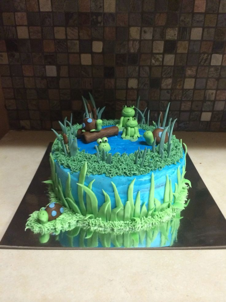 frog pond themed cake - Google Search
