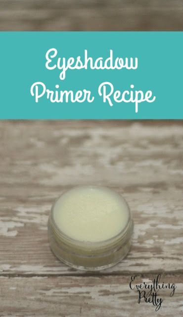 Making your own DIY eyeshadow primer recipe is easy.  Here are four recipes to help you get started. via www.yourbeautyblog.com