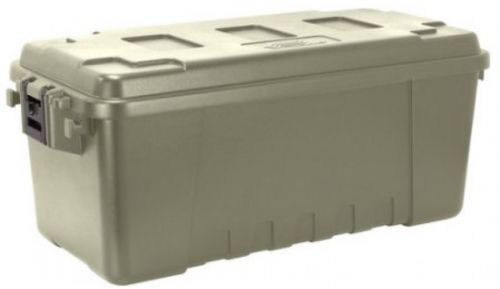 Plano 68-Quart Storage Tub Stackable Plastic Storage Trunk Rugged and Lockable