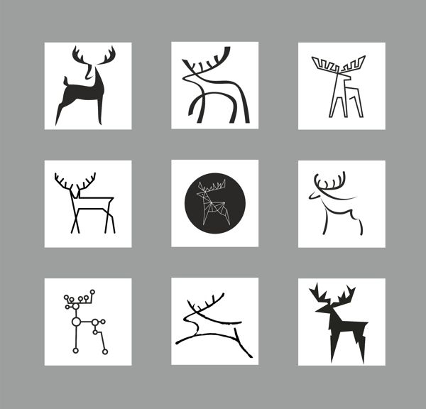 DEER stylization by Agnė Žiūkaitė, via Behance