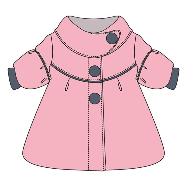 Mantel - Cute little Coat - Free pdf pattern - gratis Schnittvorlage - choose size (80,86 or 92 means 1, 1 1/2 or 2 years) then click the green link to get the free pdf pattern