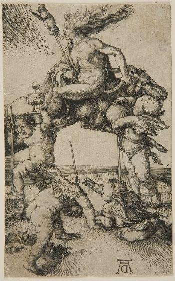 Albrecht Dürer, Witch, 15th-16th century, Harvard Art Museums/Fogg Museum.