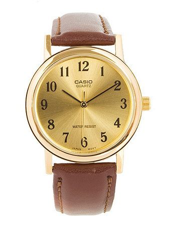 MTP-1095Q-9B1 Casio Brown Leather Analog Watch