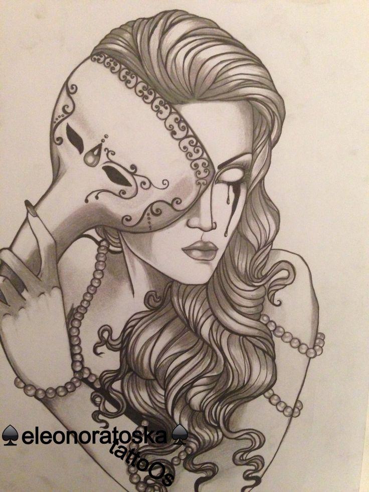 25 best masquerade tattoo ideas on pinterest venetian masks venice mask and masks. Black Bedroom Furniture Sets. Home Design Ideas