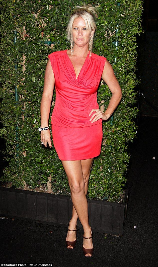 Striking a pose: Models will always go to great lengths to keep their looks, but New Zealand blonde Rachel Hunter (seen in Los Angeles in August 2010) has just raised the stakes with a truly bizarre skin treatment