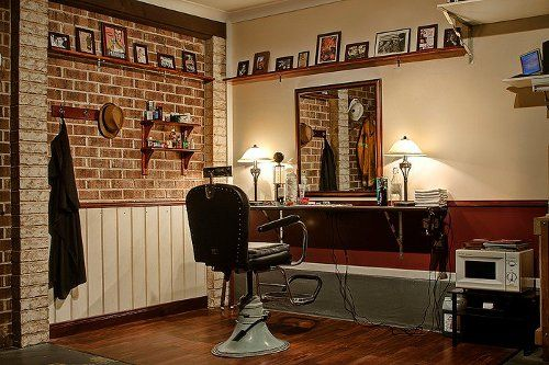 Turn Your Garage Into A Barbershop The Brick Home And