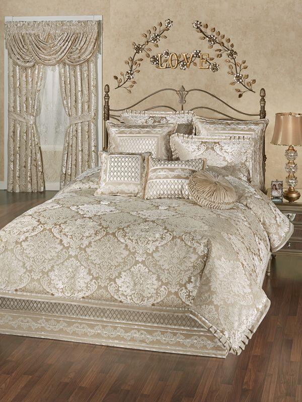 Croscill Augusta Reversible Comforter Set Comforter Sets Bedding Sets California King Bedding Sets