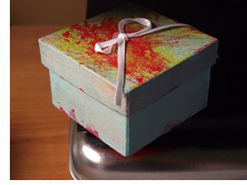 "Box of Love with Poem:  ""This is a very special gift that you can never see.  The reason it's so special is, it's just for you from me.  Whenever you are happy or even feeling blue.  You only have to hold this gift and know I think of you.  You never can unwrap it. Please leave the ribbon tied.  Just hold the box close to your heart. It's filled with love inside.""  There's a tutorial and the poem to download at the source location."